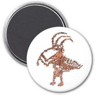 La Cieneguilla Flute Player Petroglyph 7.5 Cm Round Magnet