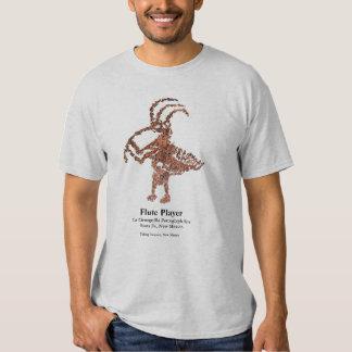 La Cieneguilla Flute Player Petroglyph T-shirts