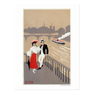 La Cite Art Deco Scene Postcard