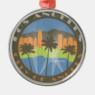 LA City of Angels Beachy Christmas Ornament