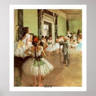 La Classe de Danse by Edgar Degas Poster