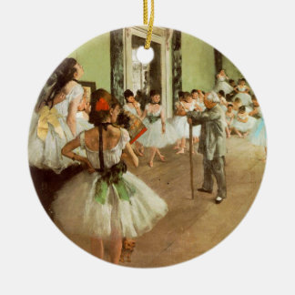 La Classe de Danse Round Ceramic Decoration