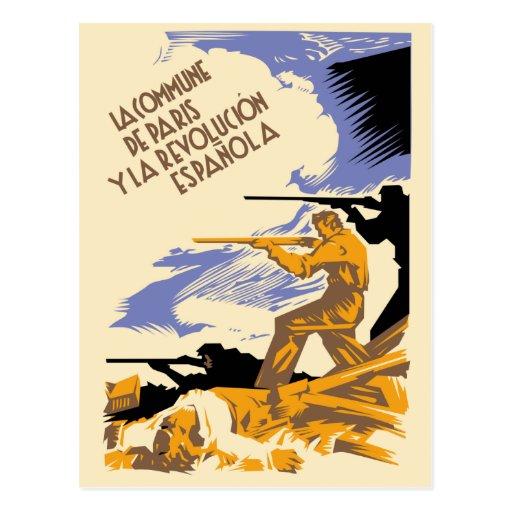 La Commune de Paris Y La Revolucion Espanola Post Cards