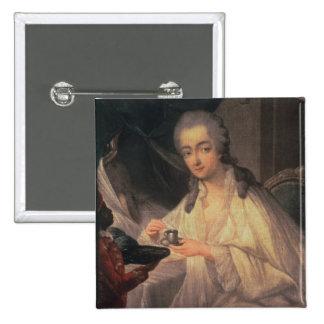 La Comtesse du Barry (1743-93) (oil on canvas) 15 Cm Square Badge