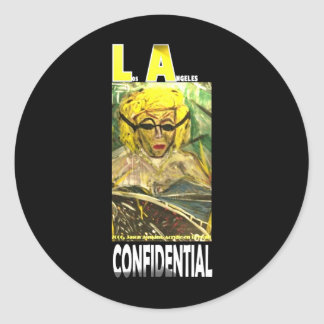 LA CONFIDENTIAL CLASSIC ROUND STICKER