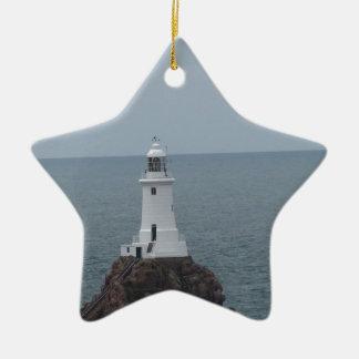 La Corbiere Lighthouse Ceramic Star Decoration