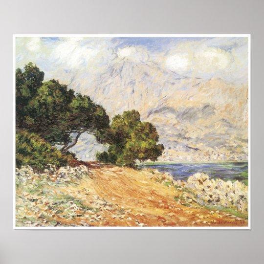 La Corniche de Monaco, 1884 Poster