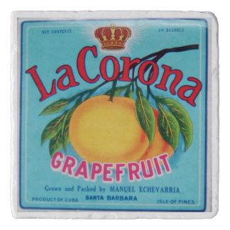 La Corona Grapefruit Marble Trivet