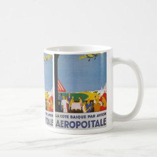 La Cote Basque Par Avion Basic White Mug