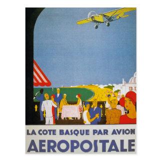 La Cote Basque Par Avion Postcard