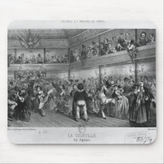 La Courtille, popular dance, engraved by Yves Mouse Pad
