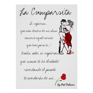 La Cumparsita Lyrics Poster