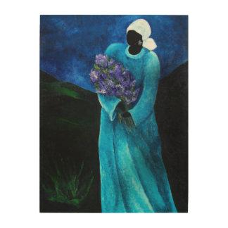 La Dame en Bleu 2009 Wood Wall Art