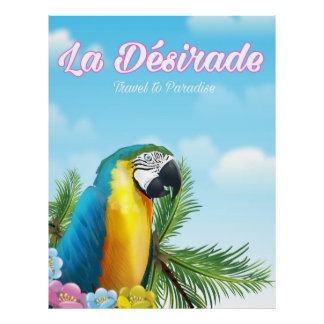 La Désirade Parrot travel poster