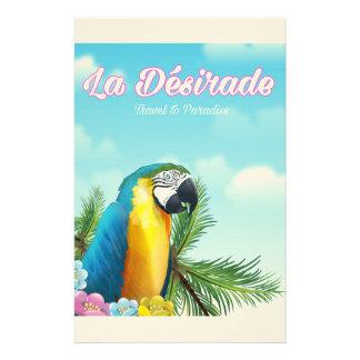 La Désirade Parrot travel poster Stationery