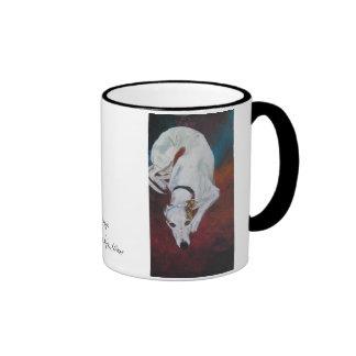 la dolce vida, Whippet,Painting by Sylvia LeDoux Ringer Coffee Mug
