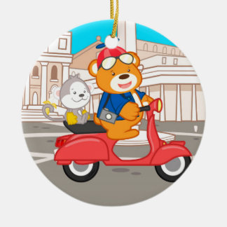 La Dolce Vita Romana - Nano Bear & Junior Monkey Christmas Ornament
