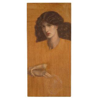 La Donna Della Finestra by Dante Gabriel Rossetti Wood USB 2.0 Flash Drive