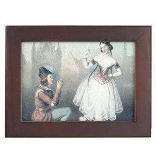 La Esmeralda': Carlotta Grisi  & Jules Perrot Keepsake Box