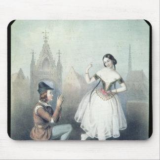 La Esmeralda': Carlotta Grisi  & Jules Perrot Mouse Pad