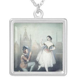 La Esmeralda': Carlotta Grisi  & Jules Perrot Silver Plated Necklace