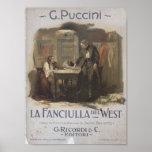 La Fanciulla del West Opera Poster