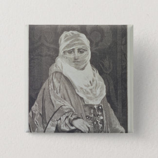 La Favorita'- Woman with a Veil 15 Cm Square Badge