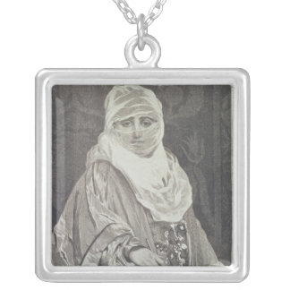 La Favorita'- Woman with a Veil Silver Plated Necklace