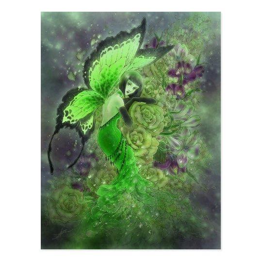 La Fée Verte Postcard - Absinthe Fairy