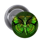 La Fee Verte With Wings Outspread 6 Cm Round Badge