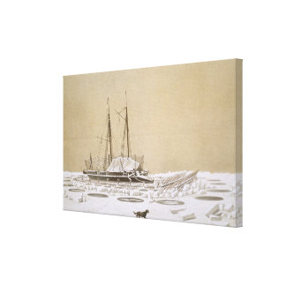 La Fleche at Kil-Bouroun invaded by ice, from 'Nos Canvas Print