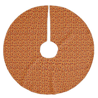 La Fleur Copper Brushed Polyester Tree Skirt
