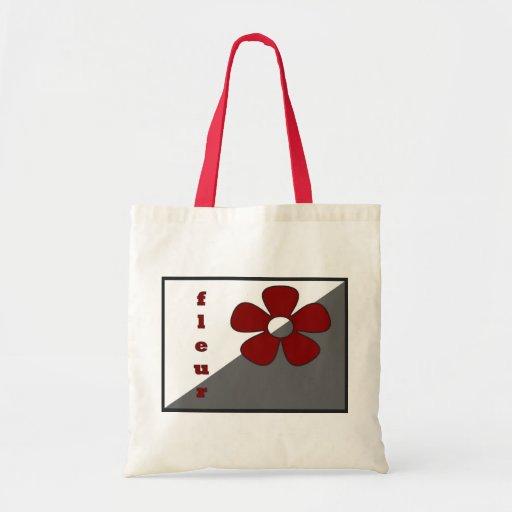 La Fleur Rouge Tote Bag