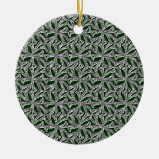 La Fluer Steel Round Ceramic Decoration
