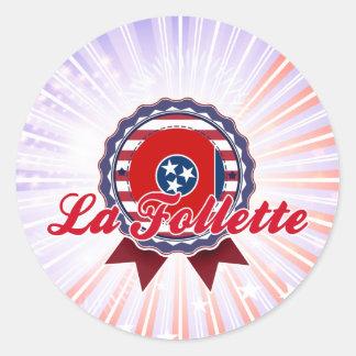 La Follette, TN Round Sticker