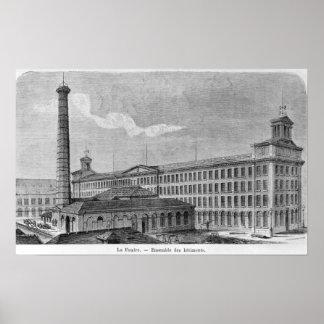 La Foudre' cotton mill Poster