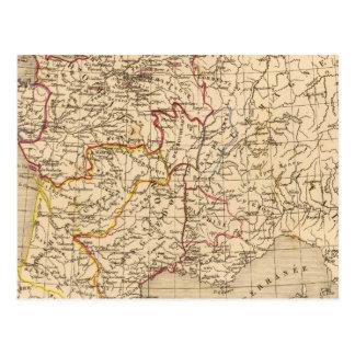La France 1328 a 1350 Postcard
