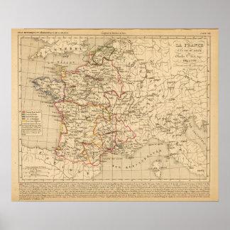 La France 1364 a 1380 Poster