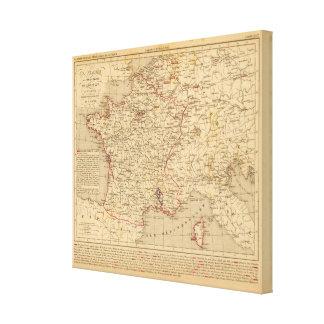 La France 1715 a 1774 Canvas Print