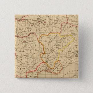 La France a la mort de Clovis en 510 15 Cm Square Badge