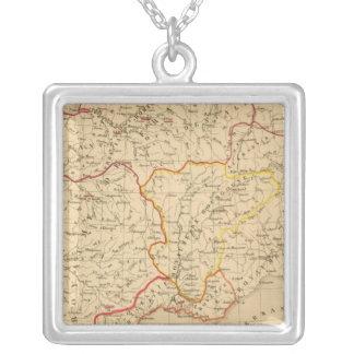 La France a la mort de Clovis en 510 Silver Plated Necklace