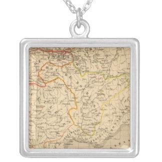 La France apres la mort de Clothaire 1er Silver Plated Necklace