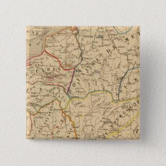 La France sous les enfans de Clovis 15 Cm Square Badge