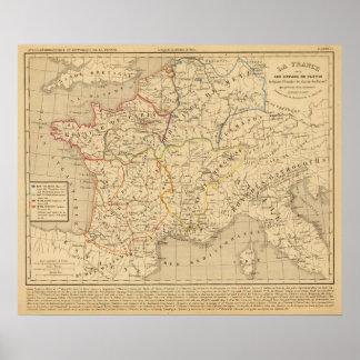 La France sous les enfans de Clovis Poster