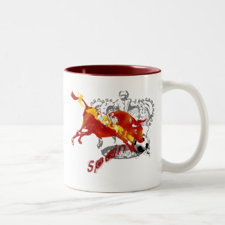 La Furia España Toro Artwork gifts and tees Two-Tone Mug