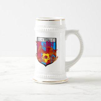 La furia futbol fans soccer shield gifts mug