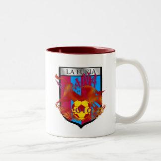 La furia futbol fans soccer shield gifts Two-Tone mug