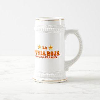 La Furia Roja Campeona de Europa Beer Steins