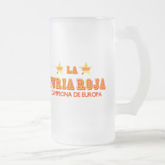 La Furia Roja Campeona de Europa Frosted Glass Mug