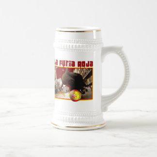 La Furia Roja Raging Bull Futbol Champions 2008 Mugs